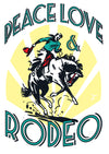 Peace, Love, Rodeo Sticker