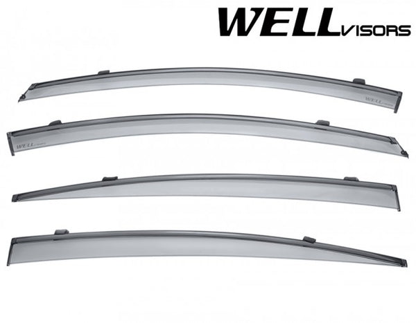WellVisors Window Deflectors for Hyundai Elantra Sedan 2017+ with Black trim