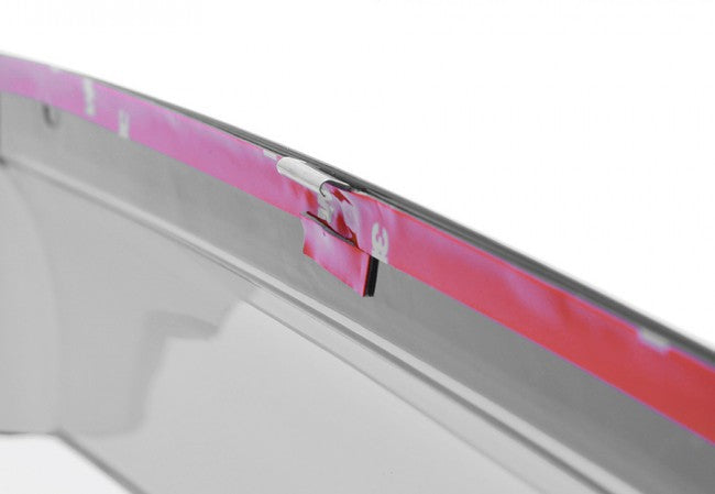 WellVisors Side Window Deflectors for Toyota Highlander 14-18 With Chrome Trim