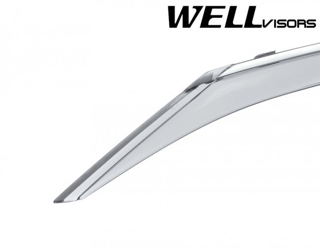 WellVisors Side Window Deflectors Toyota Camry 15-17 With Chrome Trim