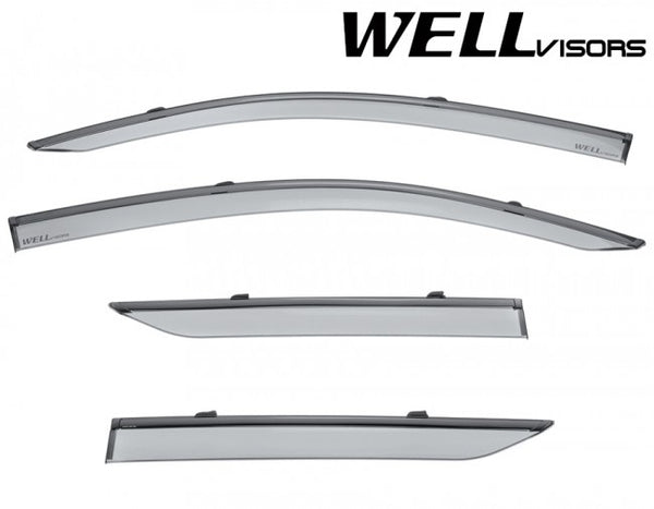 WellVisors Side Window Deflectors Toyota C-HR 2018 with Black Trim