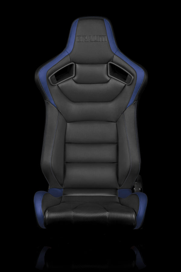 ELITE SERIES RACING SEATS (BLACK & BLUE) – PAIR