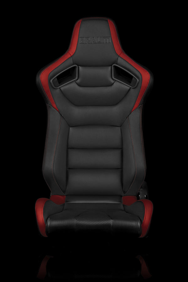 ELITE SERIES RACING SEATS (BLACK & RED) – PAIR