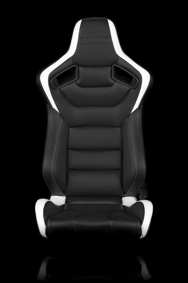 ELITE SERIES RACING SEATS (BLACK & WHITE) – PAIR