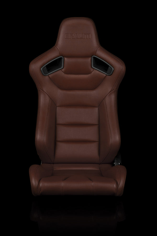 ELITE SERIES RACING SEATS (BROWN) – PAIR