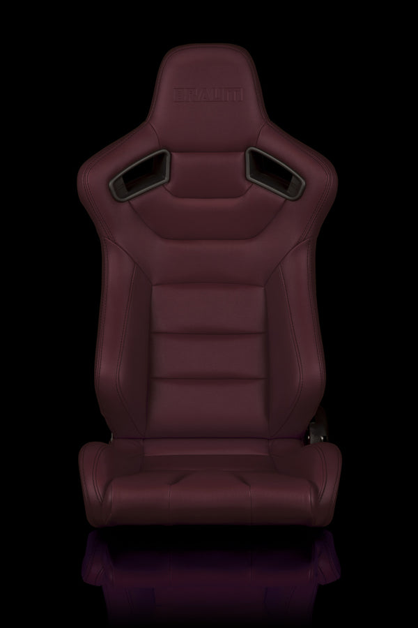 ELITE SERIES RACING SEATS (MAROON) – PAIR