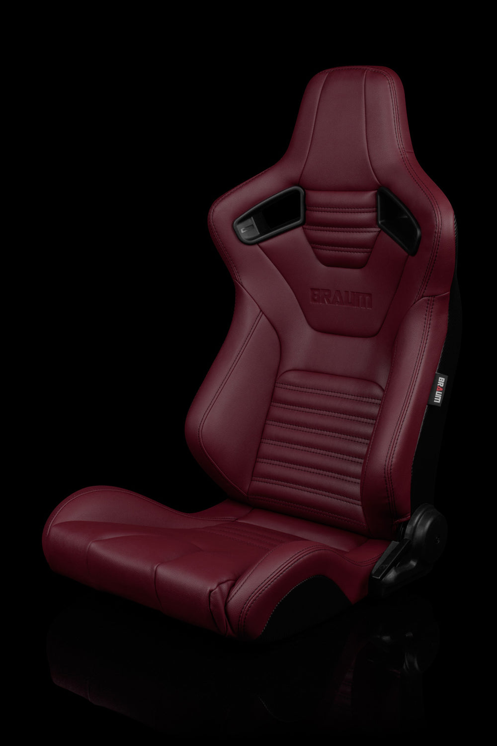 ELITE-X SERIES RACING SEATS (MAROON LEATHERETTE) – PAIR