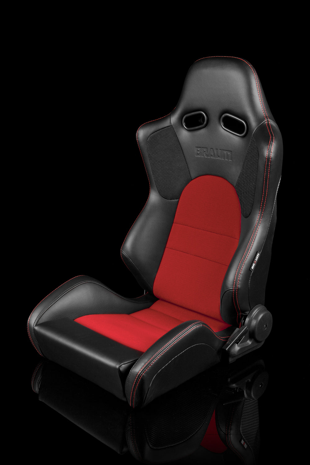 ADVAN SERIES RACING SEATS (BLACK & RED) – PAIR