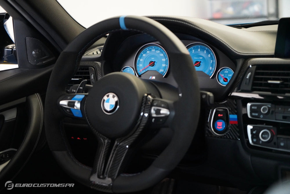 BMW F80 M3, F82 M4 and F83 M3 Blue Start/Stop Button & M1 and M2 Combo