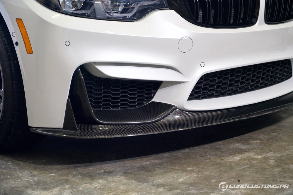 ECPR - BMW F80/F82/F83 M3/M4 V1 Carbon Fiber Front Lip with Fins