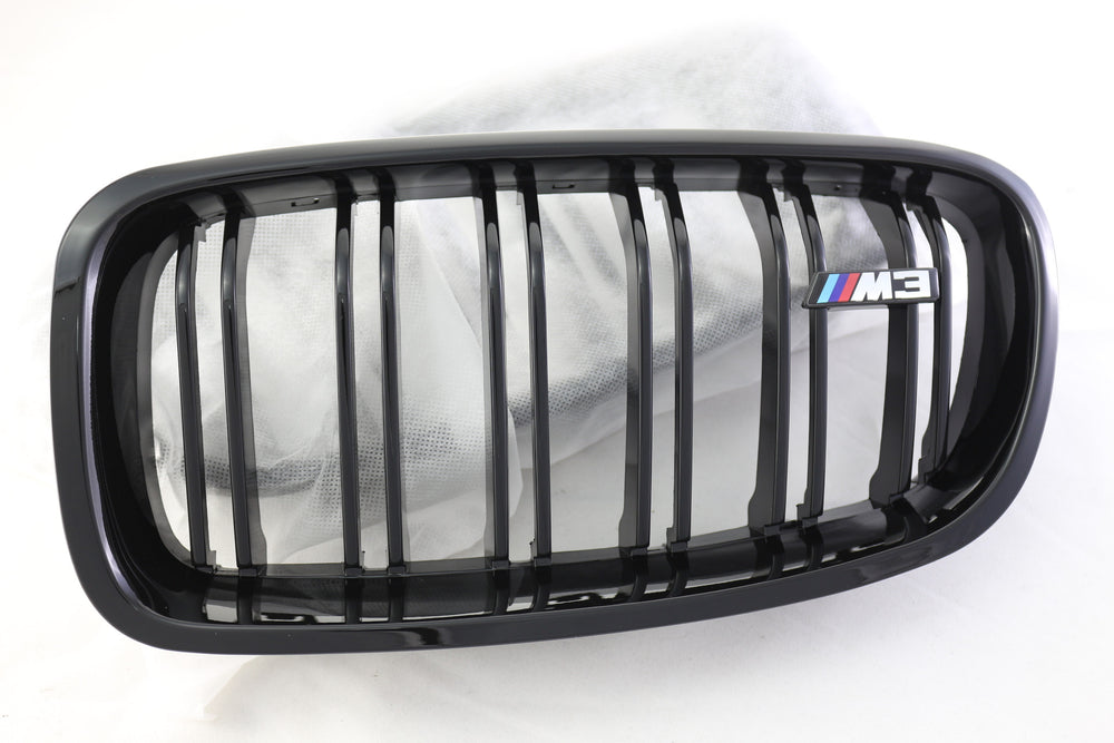F30 M3 Style Dual Fin Gloss Black Grilles