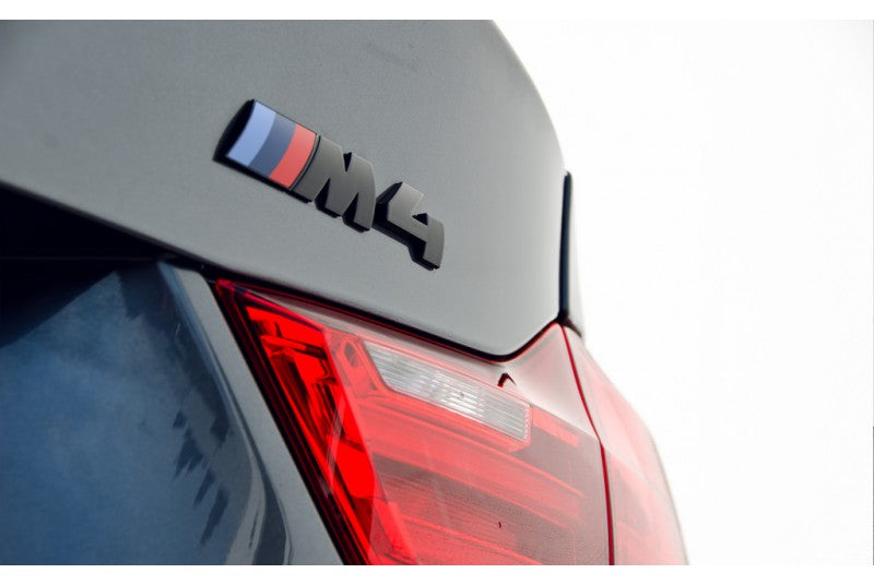 BMW M4 Black Competition Package Trunk Emblem