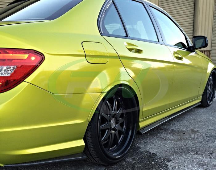 Mercedes W204 C63 RW Carbon Fiber Side Skirt Extensions