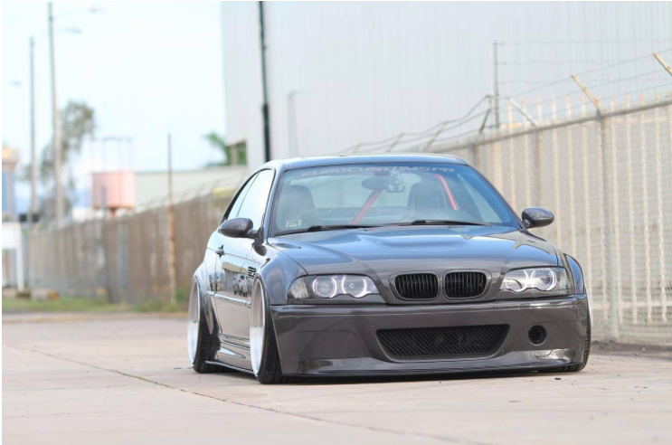 E46 M3 Carbon Fiber One Piece CSL Front Lip (For CSL Style Bumpers Only)