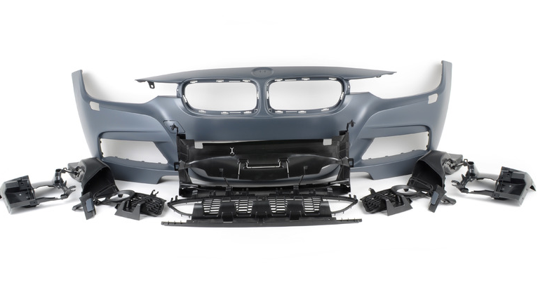 BMW F30 M Performance Style Front Bumper - No PDC