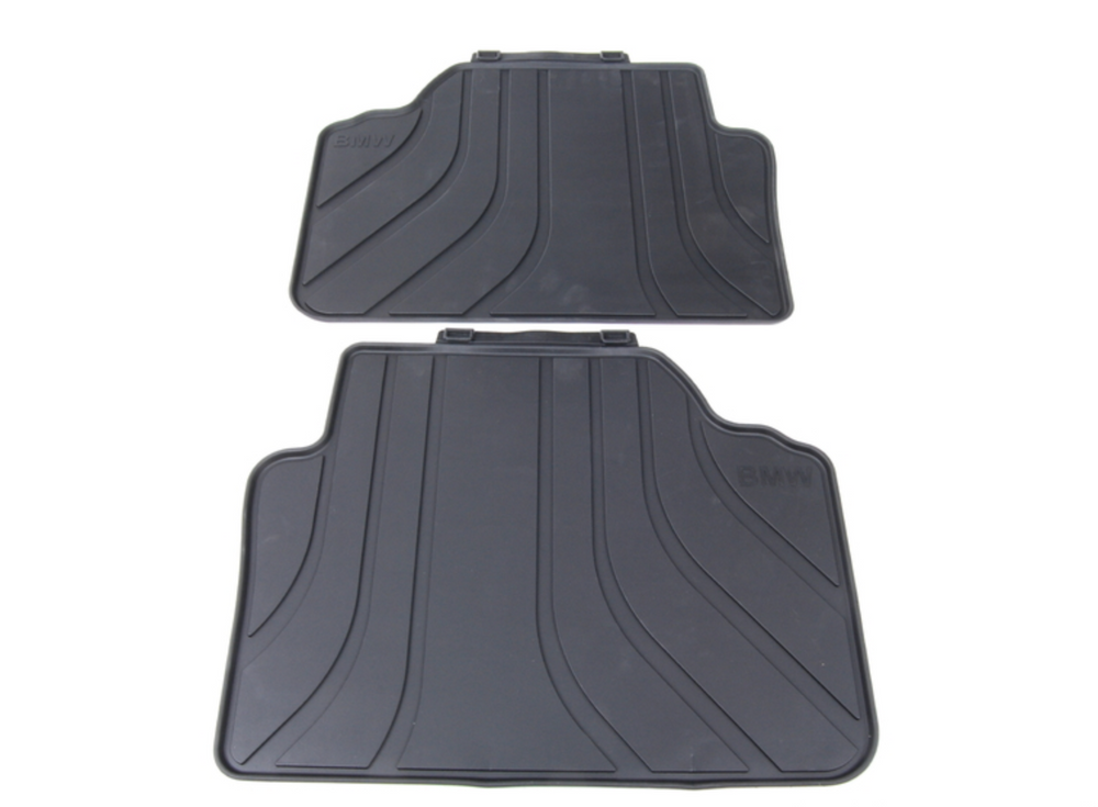 BMW E90 - OEM Rubber Floor Mats Front and Rear - Black