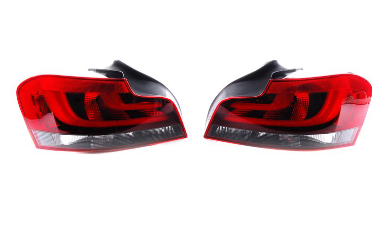 BMW E82 1 Series - European LCI Black Line LED Tail Light Set