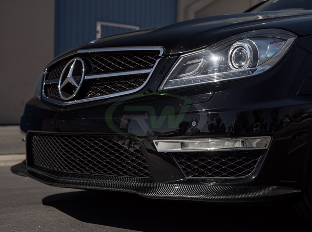 Mercedes C63 Black Series Style Carbon Fiber Lip
