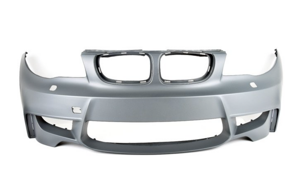 BMW E82 1 Series - 1M Style Front Bumper with Air Ducts (No PDC)