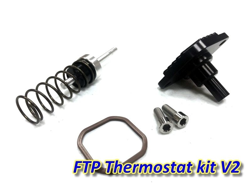 FTP S55 N55 N54 Thermostat kit V2 135i 335i 535i (Thermostat parts + thermostat cover)