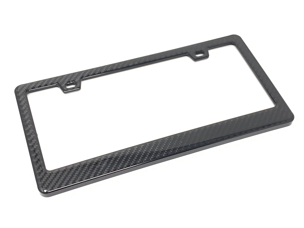 Real Carbon Fiber Standard License Plate Frame