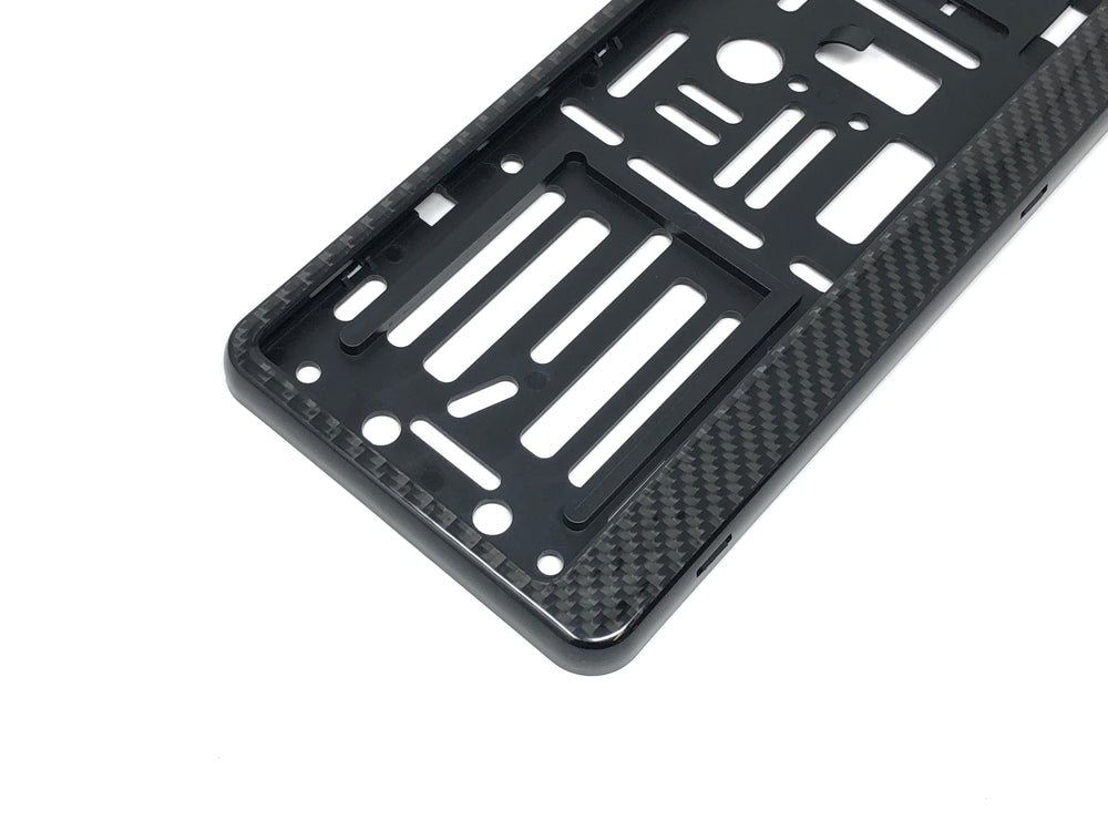 Real Carbon Fiber European License Plate Frame