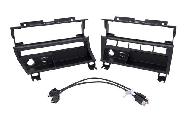 BMW E46 A/C Control Relocation Bracket with Integrated USB Ports