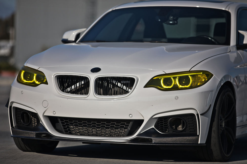 BMW F22 2 Series Carbon Fiber Front Lip 3D Style for M Sport Front Bumper