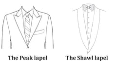 peak and shawl lapel