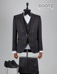 Black Diamond Tuxedo Set - Shawl Lapel