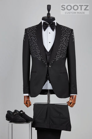 Black Diamond Tuxedo Set 3 - Textured Shawl Lapel