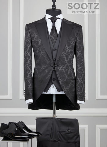 Black Damask Morning Coat
