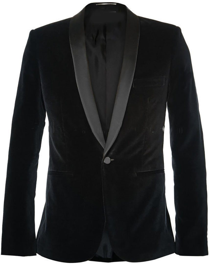 Sootz Midnight Madness Velvet Tuxedo Jacket - Sootz
