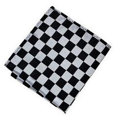 Pocket Square - Black White Checkered Pocket Square