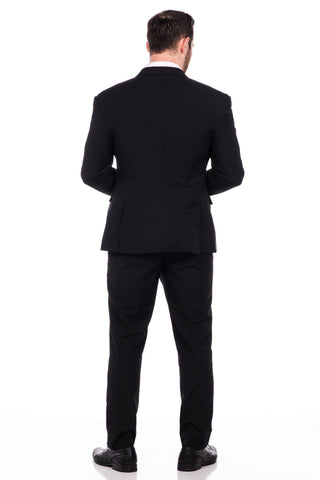 Sootz Cashmere Wool Black Dotted Suit - Sootz
