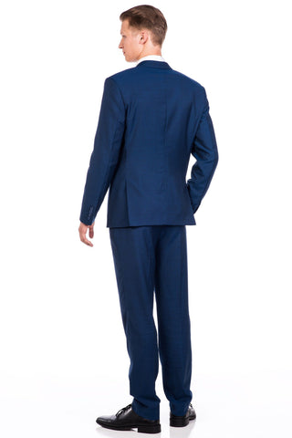 Sootz Cashmere Wool Golf Blue Suit - Sootz