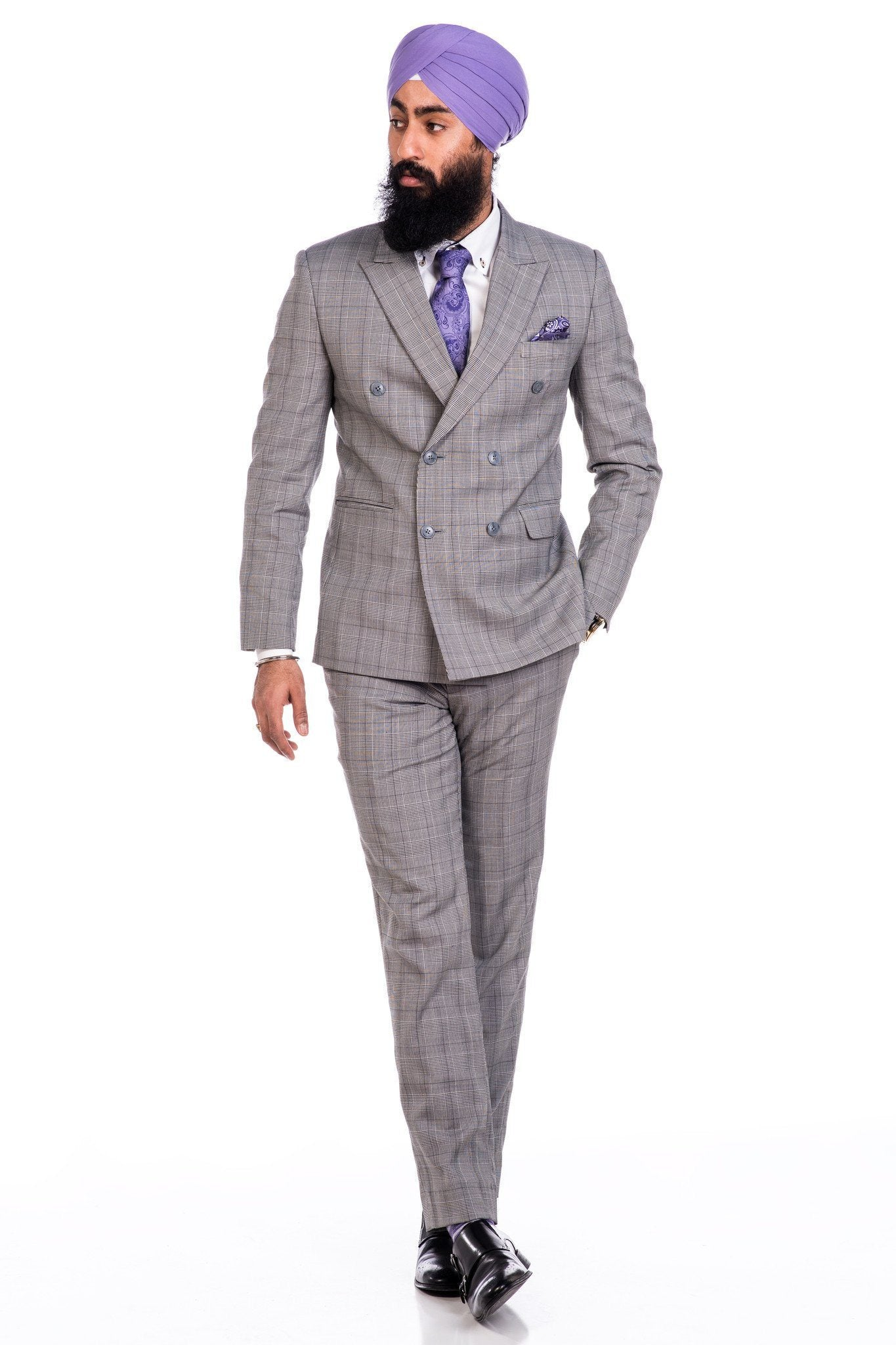 professional website exquisite craftsmanship purchase cheap Sootz Cashmere Wool Gray Checker Suit