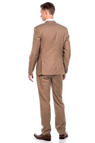 Sootz Cashmere Wool Light Brown Suit - Sootz