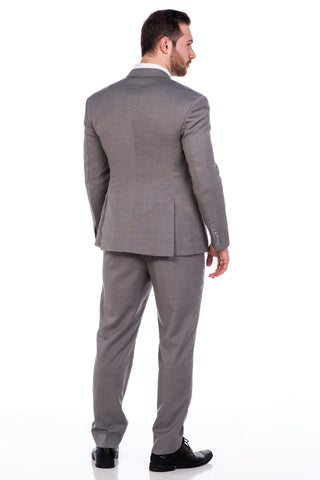 Sootz Cashmere Wool Light Gray Suit - Sootz