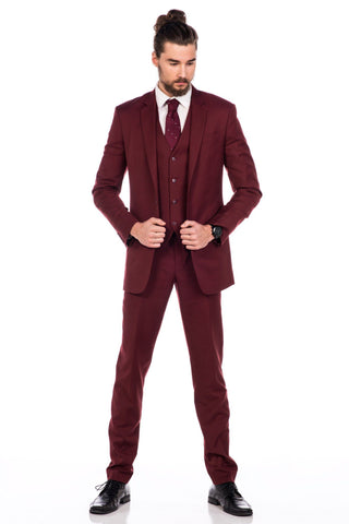 Sootz Cashmere Wool Maroon Suit - Sootz