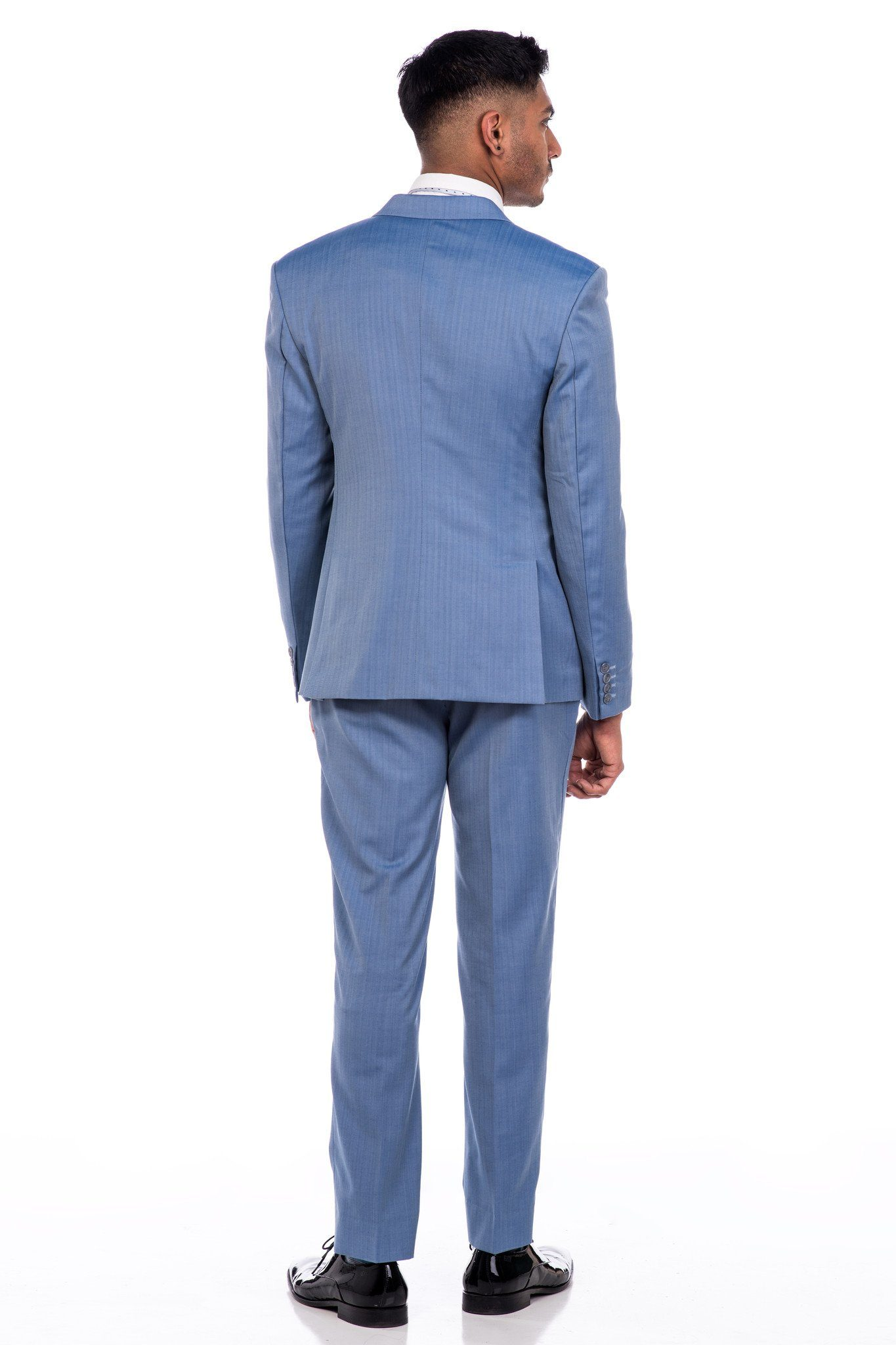 Suit - Sootz Cashmere Wool Sky Blue Suit
