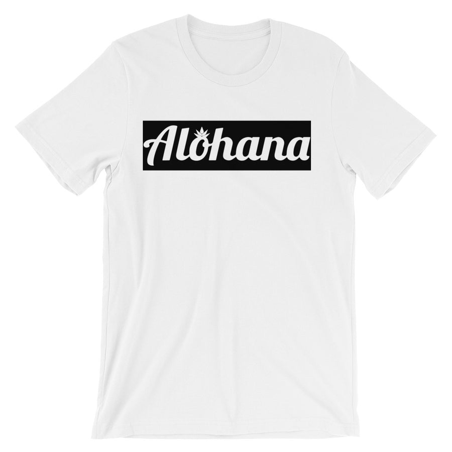 Signature Black White Box Logo T-Shirt - alohanawear