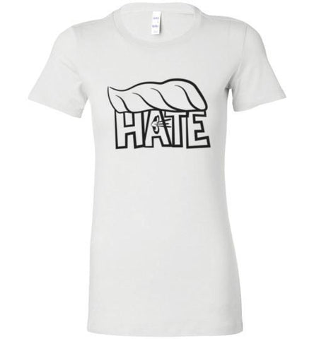 Hate Trump Ladies Fitted T-Shirt