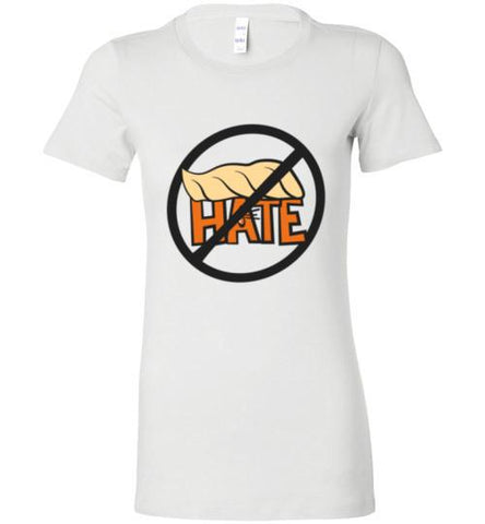 No Hate Color Ladies Fitted T-Shirt