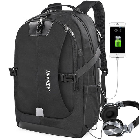 15-Pocket Backpack with USB Charging Port