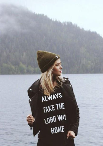 """ALWAYS TAKE THE LONG WAY HOME"" Graphic T"