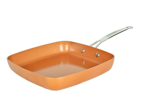 "Original Copper Pan 9.5"" Non-Stick Square Fry Pan"