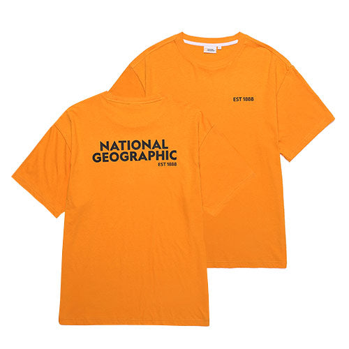 National Geographic Terrapin Overfit T-shirts Orange N202UTS920030  - HALLYU MART
