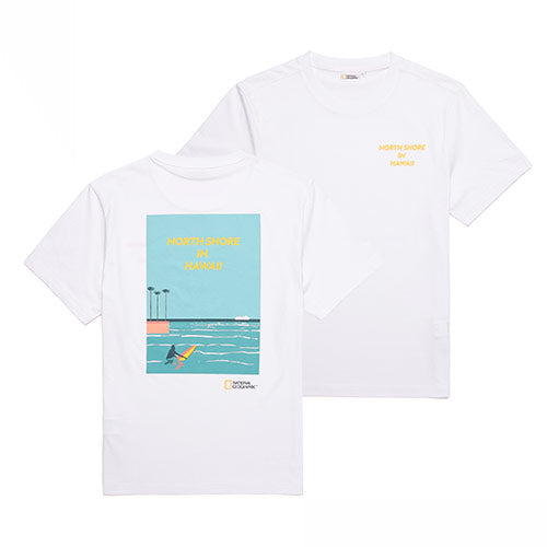 National Geographic Hot Summer Concept T-shirts White N202UTS520010  - HALLYU MART