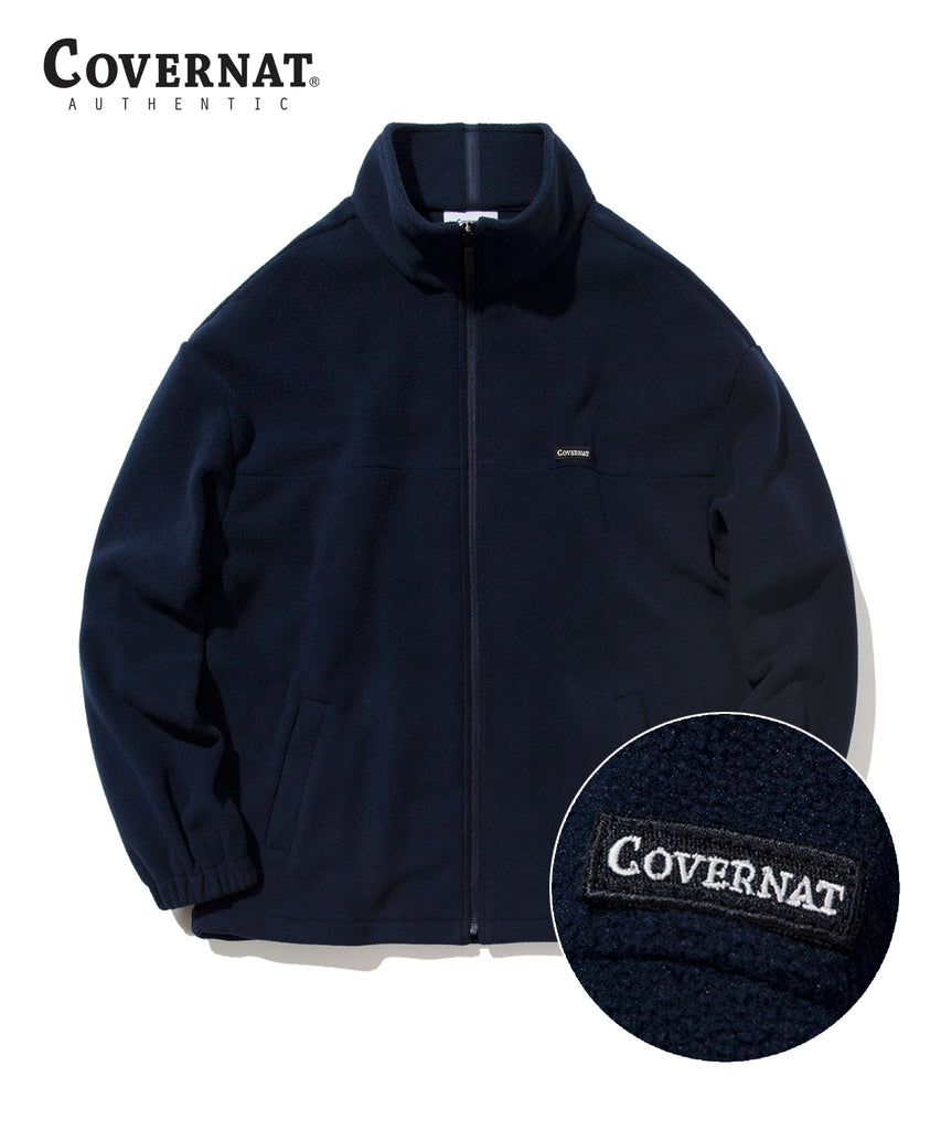 Covernat Fleece Jackets Navy  - HALLYU MART